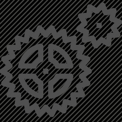 bicycle, cogwheel, gears, gearwheel, group, mechanics, motion icon