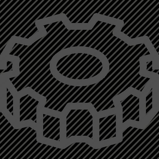 circle, cogwheel, gears, gearwheel, mechanics, motion, transmission icon