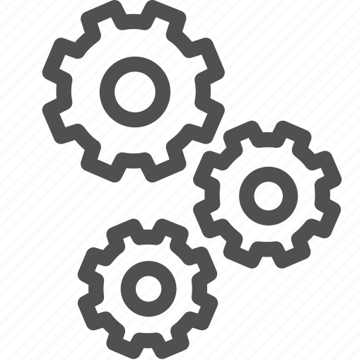cogwheel, gears, gearwheel, group, motion, setup, transmission icon