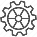 cogwheel, gear, gearwheel, mechanics, motion, transmission icon