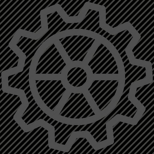 cogwheel, gear, gearwheel, mechanics, motion, transmission icon