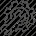 cogwheel, engine, engineering, gearwheel, mechanism, settings, wrench icon