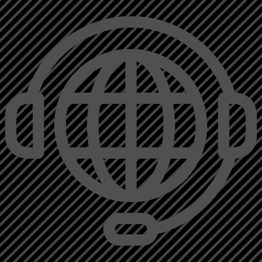 communicate, communication, global, help, phone, support, world icon
