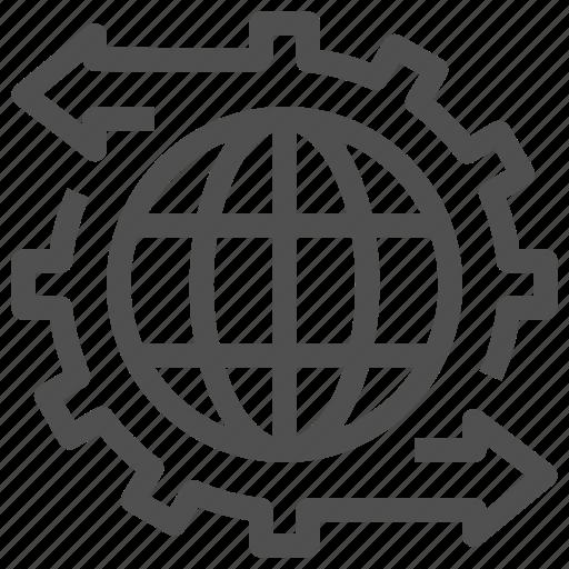 arrow, configuration, course, development, global, processing, setting icon