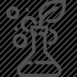 bulb, flask, gmo, healthcare, laboratory, plant, test icon
