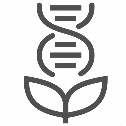 biology, dna, genetic, gmo, plant, spiral, technology icon