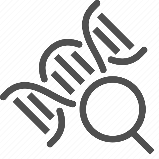 dna, genetic, gmo, magnifier, medical, modification, spiral icon