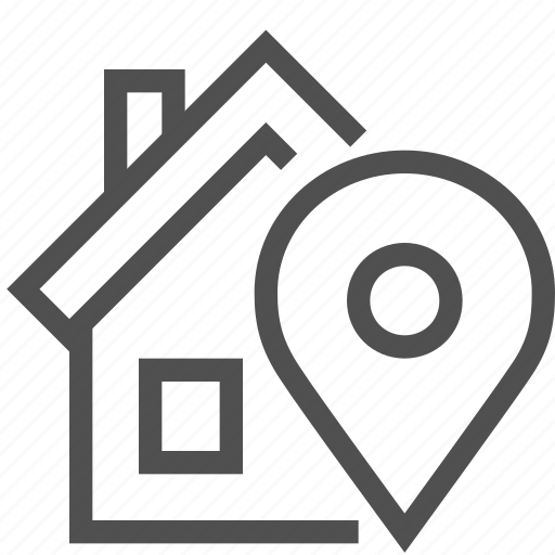 Direction, dwelling, home, house, locator, navigation, pin icon - Download on Iconfinder