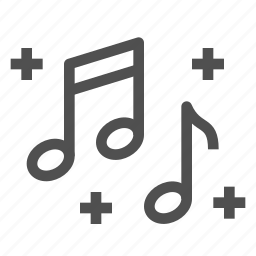 celebration, chime, melody, music, notes, party, song icon