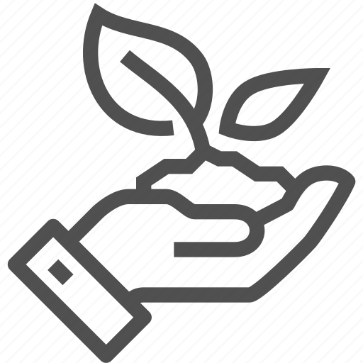 ground, growth, hand, leaf, plant, protection, sprout icon