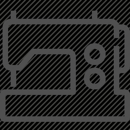 clothing, equipment, machine, sew, sewing, stitching, tailor machine icon