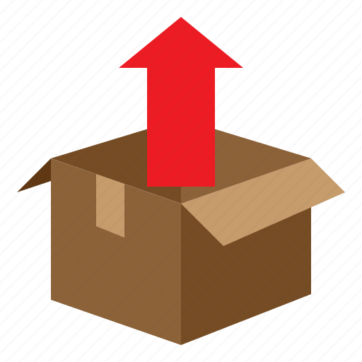 Box, parcel, package, boxing, packaging, arrow, unpack icon