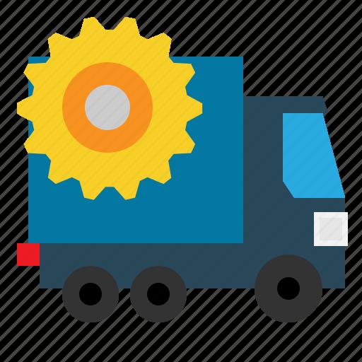 Cargo, goods, car, loader, transporter, transport, heaver icon