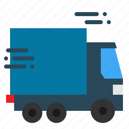 car, delivery, lorry, shipping, transport, truck, van icon