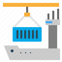 boat, contrianer, ecommerce, sea, shopping icon