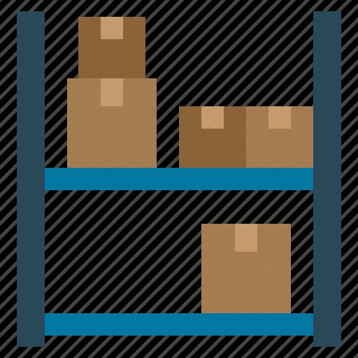 box, rack, shels, shelves icon