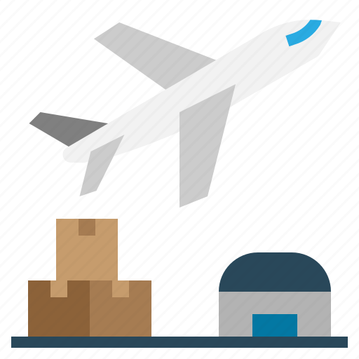 airplan, shipping icon