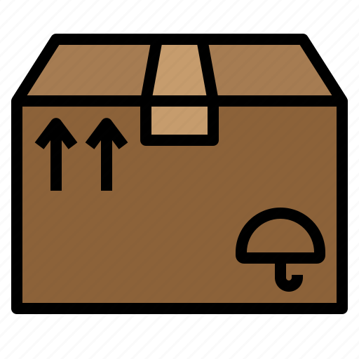 box, mailing, package, parcel, premise, premiss, sending icon