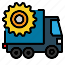 car, cargo, goods, heaver, loader, transport, transporter icon
