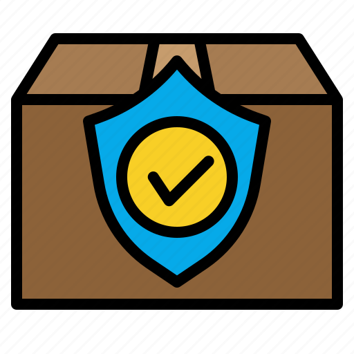 delivery, guarantee, package, protect, security, service, shipping icon