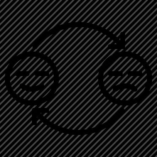 feedback, hand, happy, rating, unhappy icon