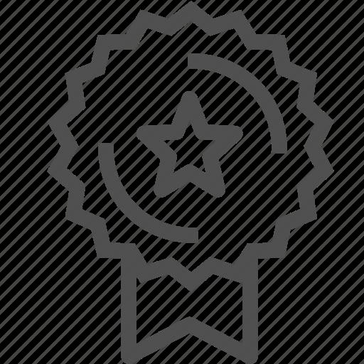 badge, label, medal, new, ribbon, star, tag icon