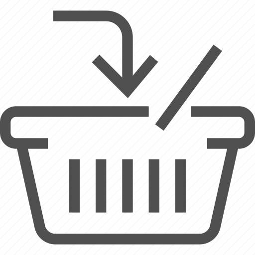 add, arrow, basket, e-commerce, put in, shopping bag, store icon