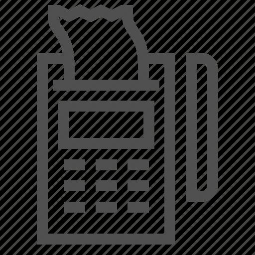 cash, check, fiscal, machine, portable, registrar icon