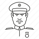 avatar, general, man, military, people, profession, uniform icon