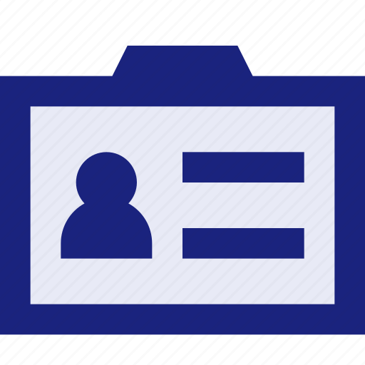 business, finance, id card, office icon