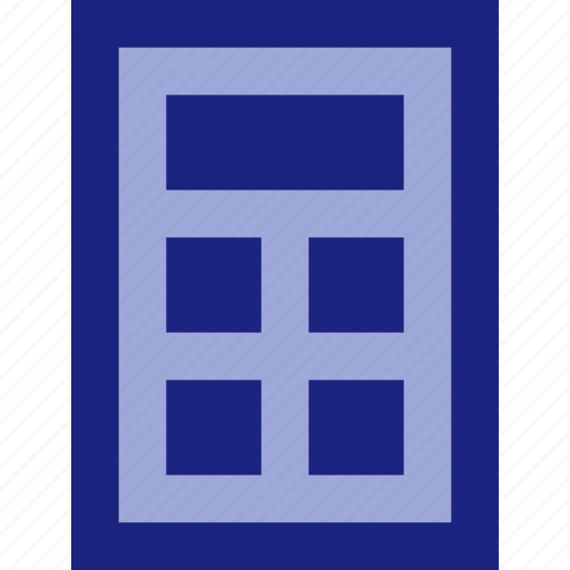 business, calculator, finance, office, stationery icon