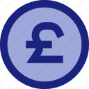 business, currency, finance, money, payment, pound sterling icon