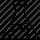 beaker, flask, lab icon