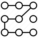 keypad, password, pattern icon