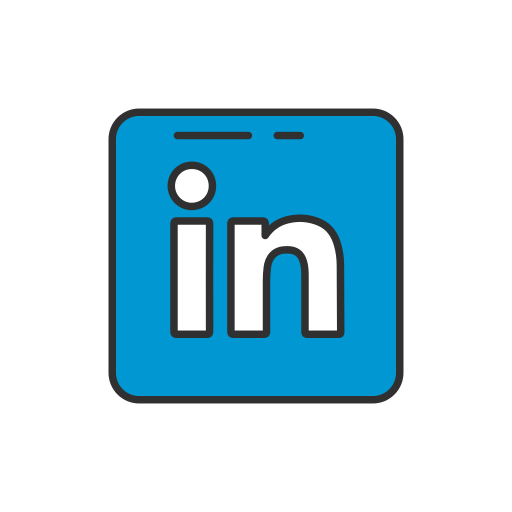 label, linkedin, linkedin logo, logo icon