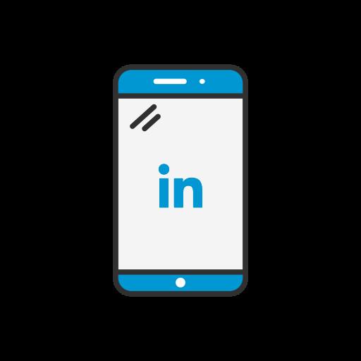iphone, linkedin, mobile phone, phone icon