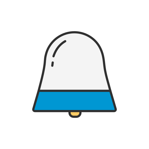 bell, message, notification, setting icon