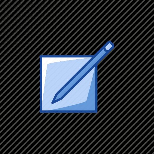 create, edit profile, post, write icon