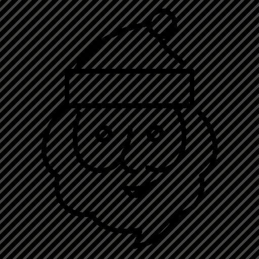beard, hat, man, santa claus icon