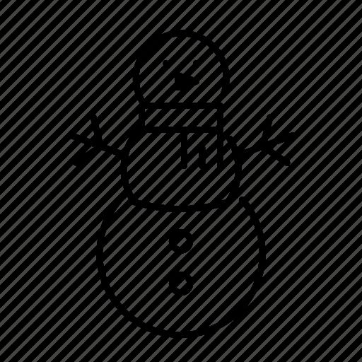 celebration, christmas, decoration, holiday, scarf, snowman, xmas icon