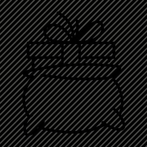 bag, celebration, christmas, gift, holiday, present, xmas icon