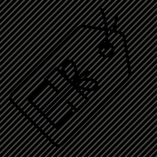 badge, box, gift, label, present, sale, tag icon