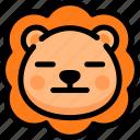 emoji, emotion, expression, face, feeling, lion, neutral icon