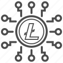 blockchain, cryptocurrency, litecoin, mining icon