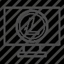 app, browser, litecoin, pc, web icon