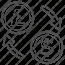 bill, cash, litecoin, money, transfer icon