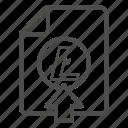 deposit, document, litecoin, up, upload icon