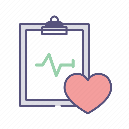 case, clipboard, health, hear rate, heart, medical, pulse icon