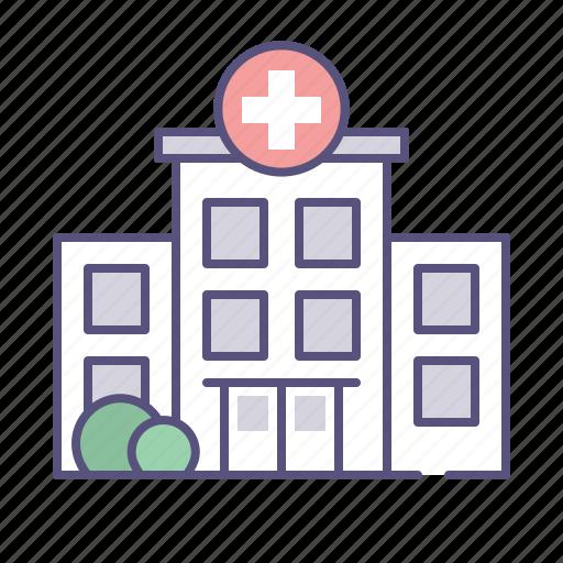 ambulance, building, emergency, hospital icon