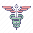 asclepius, caduceus, emergency, health, healthcare, hospital, medical icon